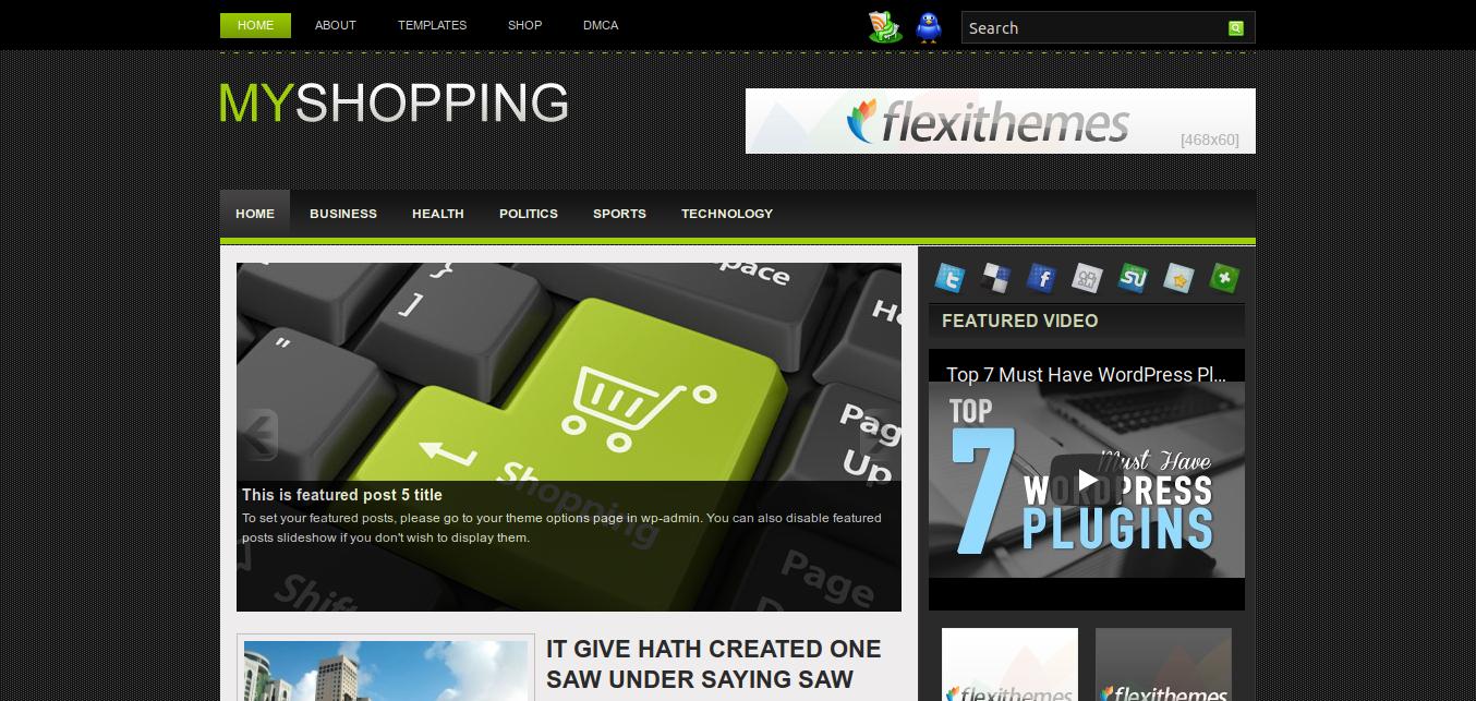 MyShopping WordPress theme