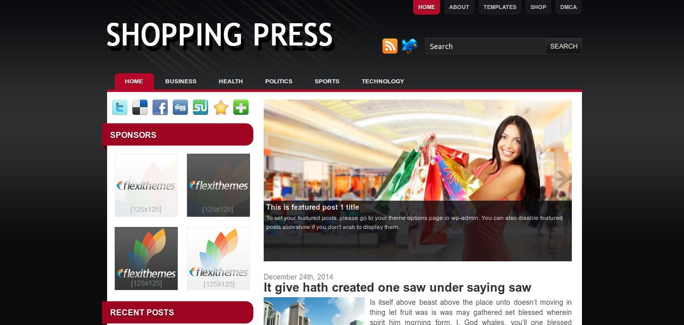 Shopping Press WordPress theme