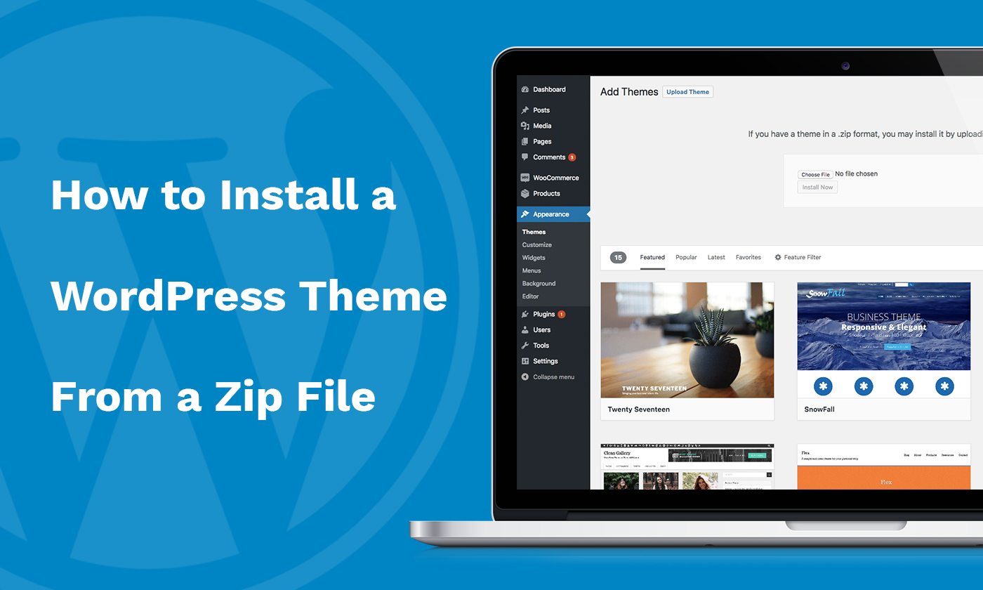 How to Install a WordPress Theme Zip File