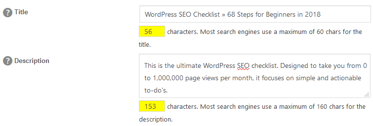 WordPress SEO: Meta Title and Meta Description Length